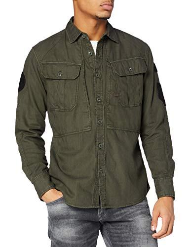 G-STAR RAW Men's Dexurt 3D Badge Slim Shirt, Asfalt gd 7647-B575, Xx-Large