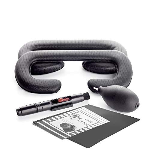 KIWI design VR Coussin pour HTC Vive, Remplacement du Masque pour Les Yeux en Mousse pour HTC Vive 10/ 6mm avec des Kits de Nettoyage