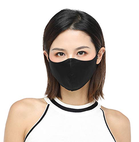 face mask for women K meet Q Reusable Silk Face Mask for Women & Men, Washable Mouth Shield with Adjustable Ear Loops #A