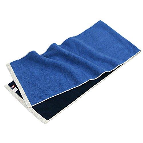 今治タオル スポーツタオル hoshi (マリンブルー×ナイトブルー) 綿100% 青色