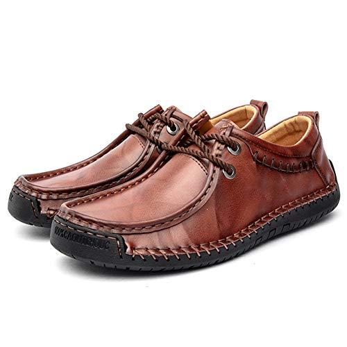 Hombres Penny Loafers Verano Ligero Calzado de conducción Moda con cordones Pisos...