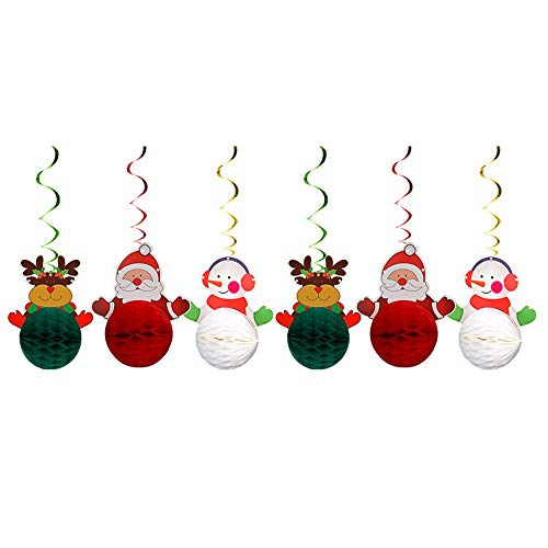 1pc Christmas Banner Beehive Garland Cute Santa Claus Snowman Elk Flag Xmas Banners Decor 2021 Merry Christmas Decor for Home (Color : Fluorescence Yellow)