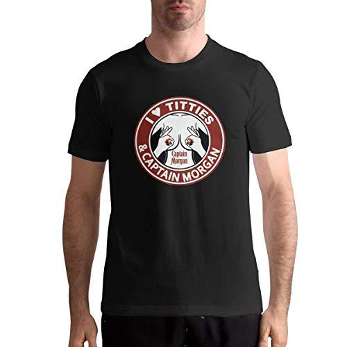 Ich Liebe Titties und Captain Morgan Man Motion Tshirts Athletic XL