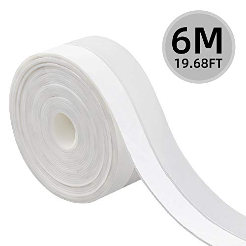Windproof Weather Stripping/ for Home Gaps of Doors and Windows HIFEOS Self-Adhesive Silicone Door Bottom Strip 16 Ft 25 mm Door Seal Strip