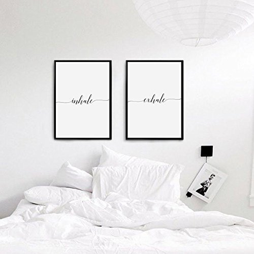 Amazoncom Inhale Exhale Print Bedroom Decor Wedding Gift Wall - Bedroom-wall-decor-collection