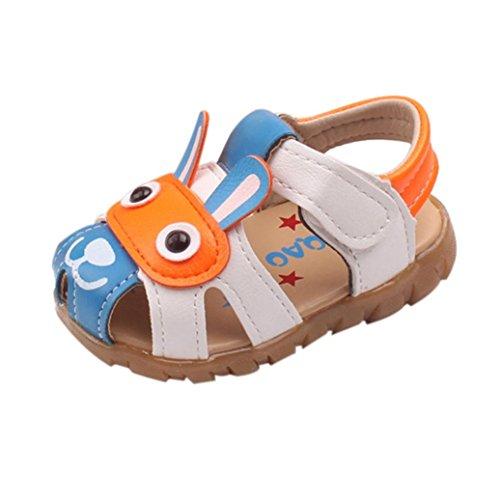 Transer pour 0-36 Mois Bébé, Enfants garçons Chaussures d'été avec des lumières Clignotantes Sandales Chaussures de Dessin animé (18-24 Mois, Bleu)
