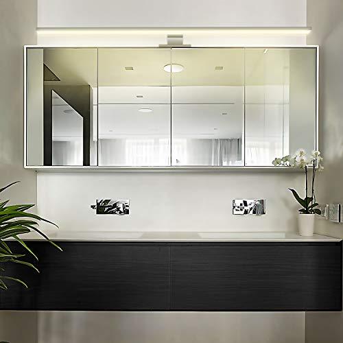 LED Spiegellampe Led Spiegelleuchte 13W Verchromt, 80cm, Warmweiß(3000K), 850lm, 80x2835SMDs, Badleuchte Schrankleuchte Wandlampe Wandleuchte CRI>80