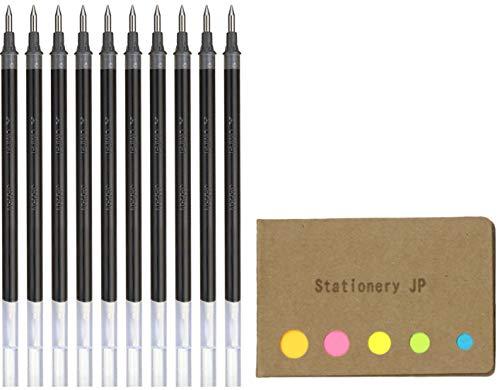 Uni-ball UMR-1 Refills for Signo Gel Ink Ballpoint Pen, UM-151 DX, 0.38mm, Black Ink, 10-Pack, Sticky Notes Value Set