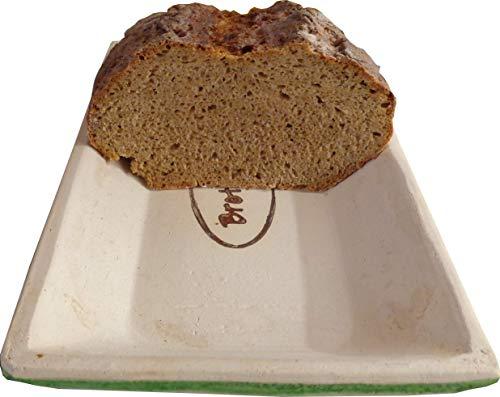 Brot Backform Keramik Brot Back Mulde für 500g Brot und bis zu 750 gr Brot, hergestellt mit Ton aus Deutschland, produziert in Bayern. Brotrezepte im Web Brotbackmulde