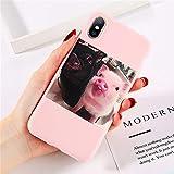 LUOKAOO Funda de Silicona Cute Pig para iPhone 11 Pro X XR XS MAX 6 6s 7 8 Plus 5 5s SE Fundas para móviles Soft TPU Contraportada para iPhone 7,3273P, para iPhone 7 Plus