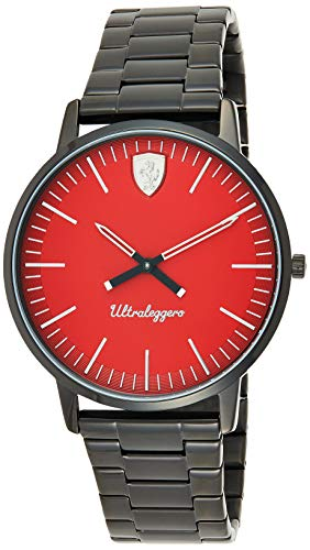 Scuderia Ferrari Reloj Analógico para Hombre de Cuarzo con Correa en Acero Inoxidable 830564