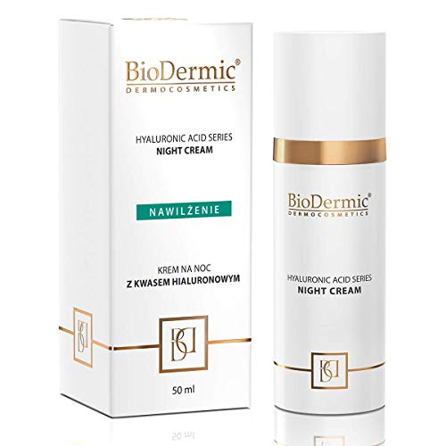 Nachtcreme mit Hyaluronsäure, feuchtigkeitsspendend, Anti-Aging, glättendes und nährendes Dermokosmetikum, 50 ml BioDermic Dermocosmetics