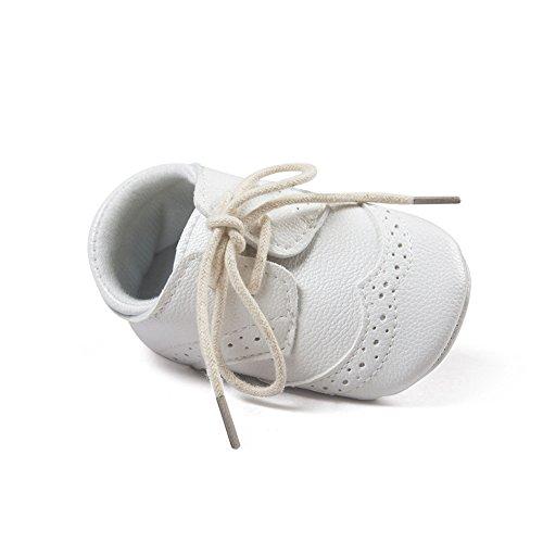 ESTAMICO Baby Boys Shoes Prewalker PU Sneakers White 3-6 Months