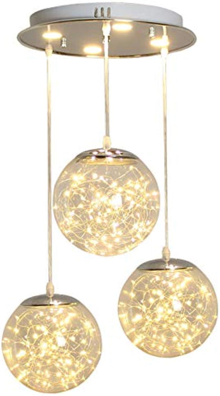 Kreative transparente Kristallkugel Anhnger Beleuchtung Heimtextilien Restaurant Loft Glühwürmchen LED-Kronleuchter