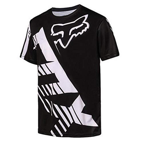QINYA Radfahren Jersey,MTB-Trikot Outdoor-Radsport Fahrrad Reitanzug Langarm-Shirt,Unisex Downhill-Anzug Herren Mountainbike Motocross Trikot (Color 07,4XL)