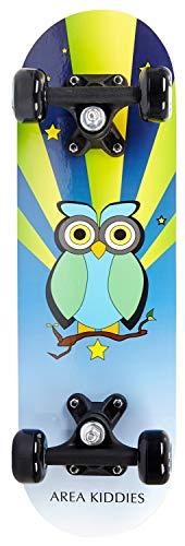 AREA Unisex Jugend Kinder Skateboard Little Owl, Mehrfarbig, 20