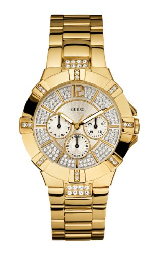 GUESS U13576L1 Dazzling Sport Watch - Gold: Watches