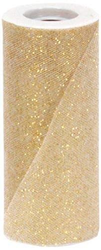 Berwick Offray Gold Sparkle Tulle by the Bolt, 6'' W, 25 Yards