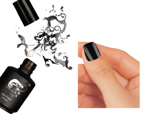 Vernis SEMI PERMANENT NOIR by NAIL EON professionnel 15 ml