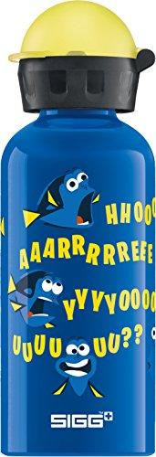 SIGG Dory and Destiny, Kinder Trinkflasche, 0.4 L, Auslaufsicher, BPA Frei, Aluminium, Blau