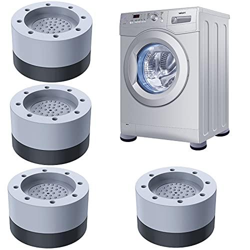 Waschmaschine Füße Pad Fußpolster, 4 Stück Anti Vibration Waschmaschine Füße Anti Rutsch Gummi-Fußpolster, Universal Antivibrationsmatte Vibrationsdämpfer für Waschmaschinen und Trockner