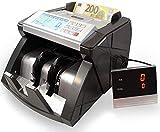 Banknotenzähler Geldzählmaschine Geldscheinzähler Wertzähler Geldzähler Geldscheinprüfer erkennt alle neue 100 und 200 EUR - 2