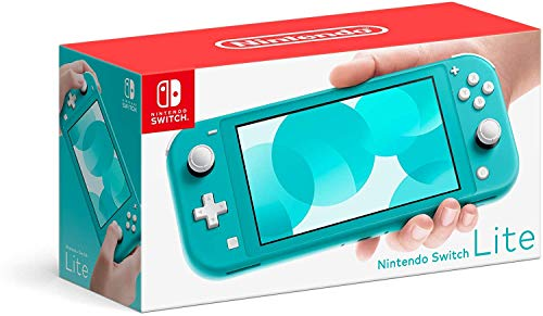 Newest Nintendo Switch Lite Game Console, 5.5 inch LCD Touchscreen, Built-in Plus Control Pad, Speakers, 3.5mm Audio Jack, Speakers, with CUE 128GB Micro SD Card (Turquoise)