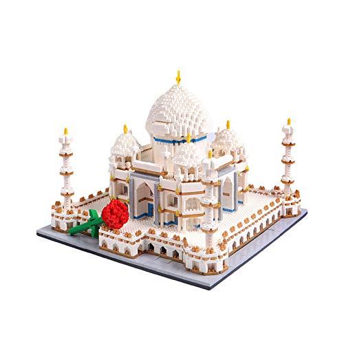 JMG Taj Mahal Architecture Castle Model, World Famous Landmark Model Toys, with Rose Blocks (4146 Pcs)