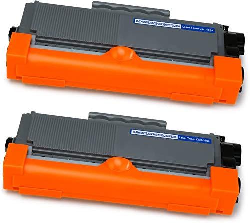 Mipelo Kompatibel Brother TN-2320 TN2320 Toner, 2 Pack Ersatz für Brother HL-L2340DW MFC-L2700DW DCP-L2520DW HL-L2300D DCP-L2500D HL-L2360DN MFC-L2720DW HL-L2365DW MFC-L2740DW DCP-L2540DN DCP-L2560DW