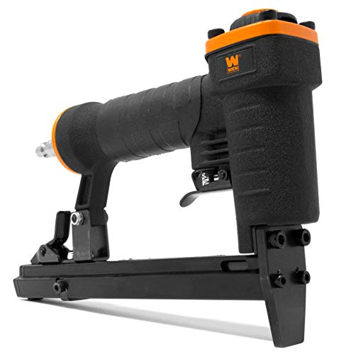 WEN 61705 20-Gauge 3/8-Inch Crown Air-Powered Pneumatic T50 Stapler for Upholstery and Woodworking