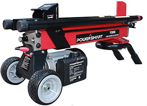 PowerSmart 6-Ton 15 Amp Electric Log Splitter, Standard Size, Red, Black, PS9006