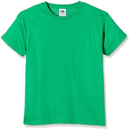 Fruit of the Loom SS132B, Camiseta para Niños, Verde (Kelly Green), 9-11 años (Talla del fabricante 140)