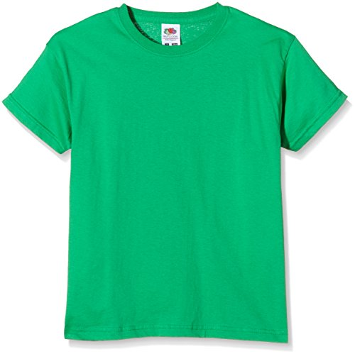 Fruit of the Loom SS132B, Camiseta para Niños, Verde (Kelly Green), 9-11 años (Talla del fabricante 140)