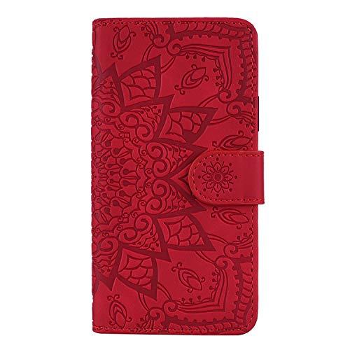Hülle für Xiaomi Pocophone F1 Hülle Handyhülle [Standfunktion] [Kartenfach] Schutzhülle lederhülle flip case für Xiaomi Pocophone F1 - DEHF010663 Rot