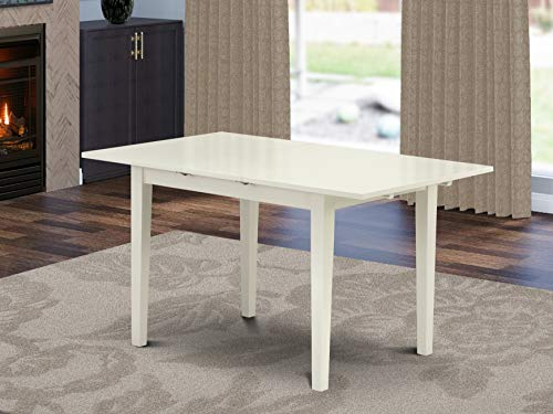 East West Furniture NFT-LWH-T Wooden Table, Standard Height