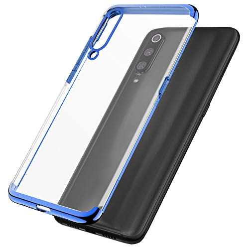 mtb more energy® Schutz-Hülle Elegance für Samsung Galaxy A41 (SM-A415, 6.1'') - blau - flexibel - TPU Case Cover Tasche Hülle