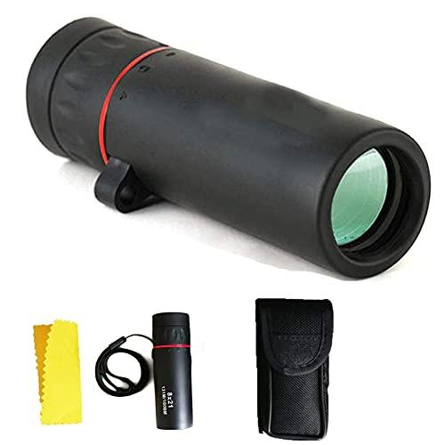 Bierglaks Telescopio monocular 4 - -10 500 para Smartphone 68g Mini binoculares de Bolsillo ultraligeros y compactos con visin Nocturna Prisma de Alta Potencia Telescopios para observacin de Aves