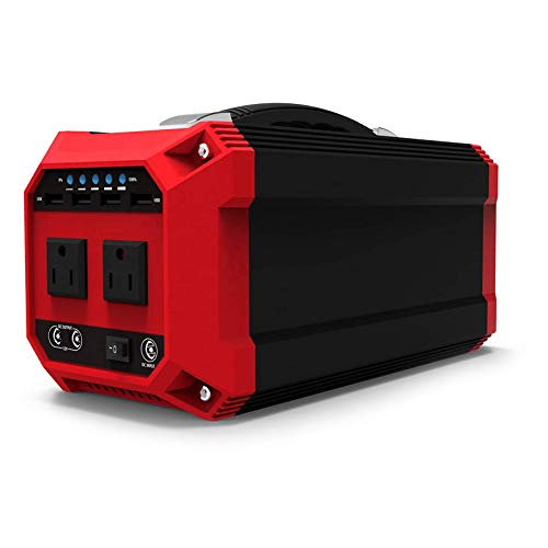 JHKJ Portable Power Station 270Wh / 73000mAh Pure Sine Wave Solar Generator Emergency Reserve Battery AC 300W Socket USB and DC Port for Outdoor Camping,110V