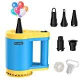 Dr.meter Electric Air Pump, 110V 350W 600L/Min Powerful Electric Balloon Pump Quick-Fill Inflator/Deflator with 5-Nozzle for Air Mattress/Raft/Bed/Boat/Pool Toy