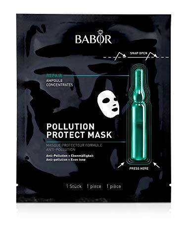 Babor AMPOULE CONCENTENTENTHIEL Pollution Protect masker, fleece masker met verscapsule voor de door milieu-invloeden belaste huid, 1 st.