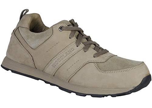 Woodland Men's Khaki Leather Sneakers-8 UK/India (42 EU) (GJ 2713117)
