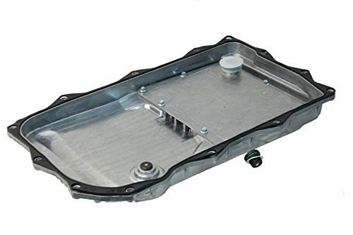 URO Parts 24118612901PRM Transmission Oil Pan & Filter Kit, Aluminum Construction with Replaceable Filter, Bolts not Included