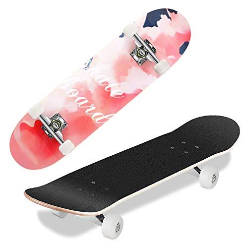 Hikole Skateboard per Adolescenti, Ragazze, Ragazzi, Principianti, Tavola da Crociera Completa 31 x 8 Pollici,...