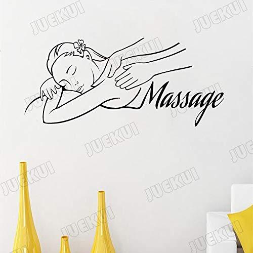 tzxdbh Massage Schönheit Mädchen Schriftzug Zitate Wandaufkleber für Spa Wohnzimmer Decor Vinyl Wandtattoos Schönheitssalon Aufkleber Muraux 57 * 27 cm
