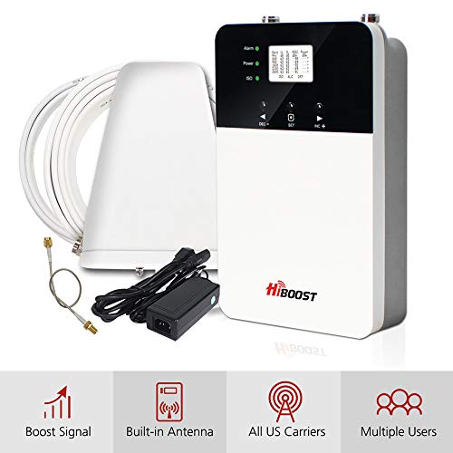 HiBoost Cell Phone Signal Booster for Home and Office, Compatible All US Carriers- Verizon, AT&T, Sprint, T-Mobile on All Cellular Devices (10K Plus)