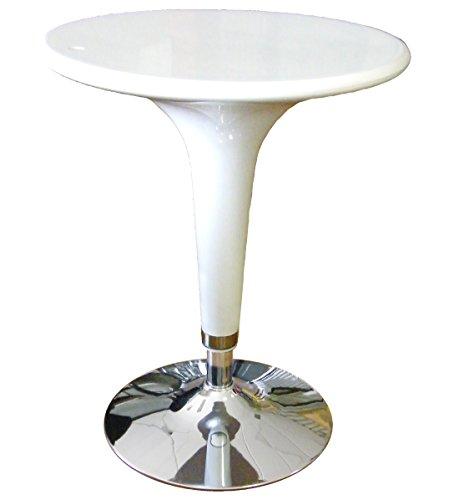 SERENA GROUP Table Bar ø 60 cm en ABS et Acier H72/92 cm Blanc