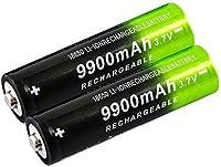懐中電灯のヘッドライトや電子機器に使用される充電式リチウムイオン18650 9900mAh 3.7Vバッテリー。シャープバッテリー-2室