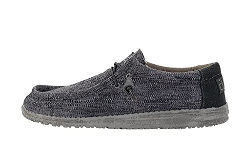 Hey Dude Men's Wally Woven Carbone, Size 12
