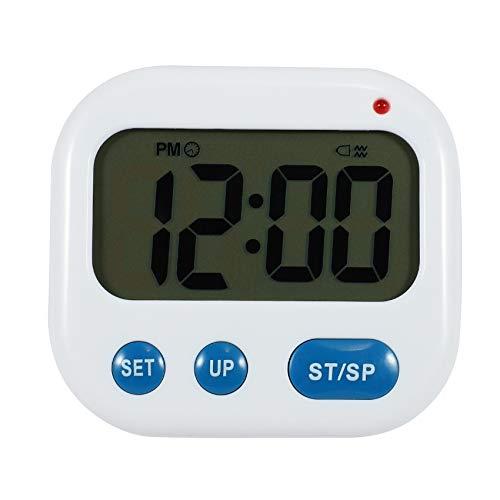Youmine Despertador de Vibración Temporizador Digital LED Luminova Reloj de Caramelo Electrónico Reloj de Escritorio de Estudiante Gadgets de Escritorio Luz Azul + Azul