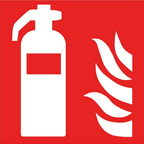 Brandschutzzeichen Feuerlöscher Sicherheitsschild Warnschild 150x150mm aus Aluminium langnachleuchtend Betriebsausstattung